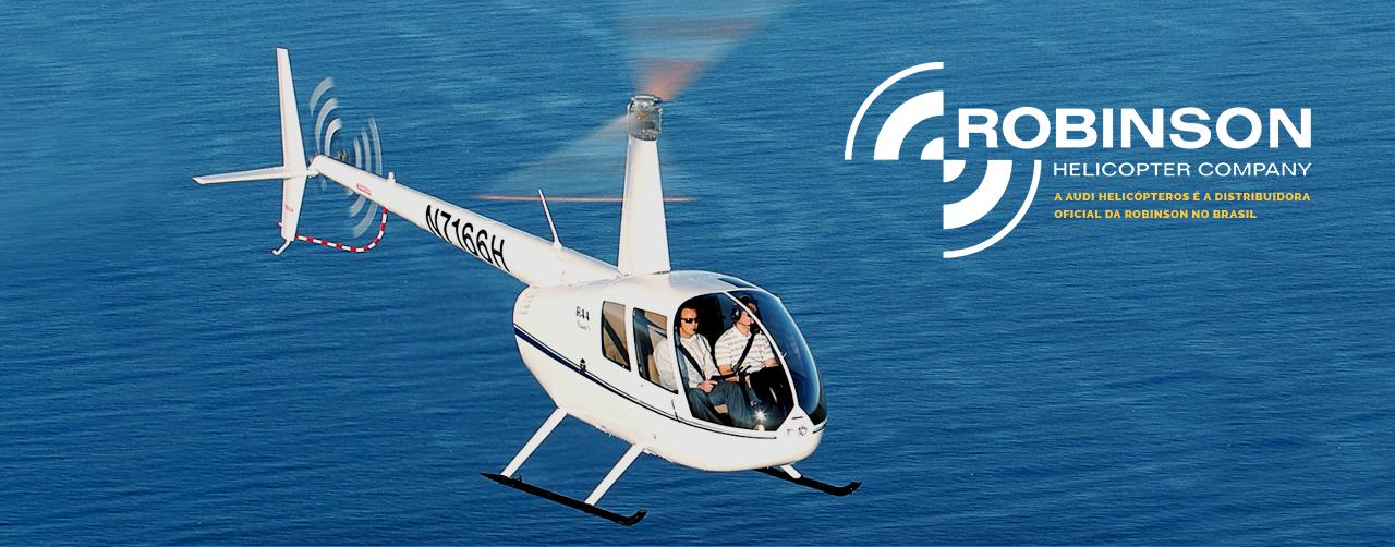 Banner da Robinson Helicopter Company